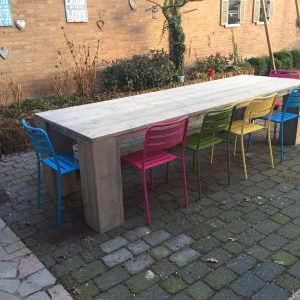 Tafel 3 meter grey wash